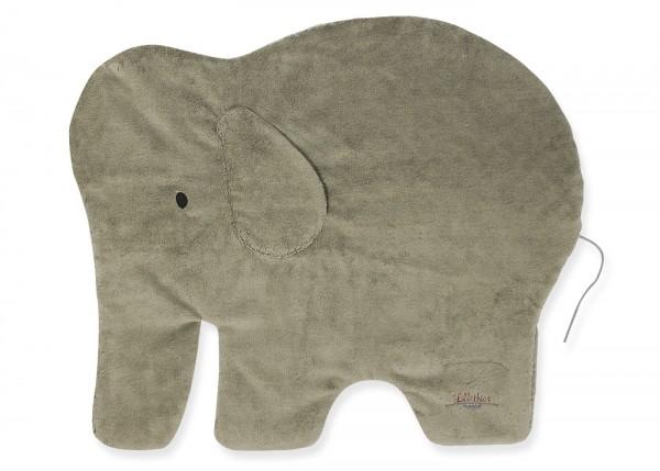 BIO Plüsch -Krabbeldecke Elefant mit Vlieseinlage