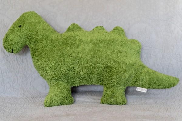 Schlaf - und Kuschelkissen Till der Dino - Bio Plüsch