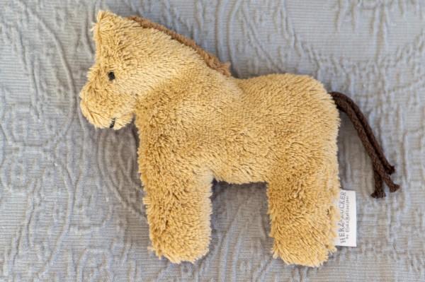 Babykissen Holly das Pferd mit Traubenkernfüllung - Bio Plüsch
