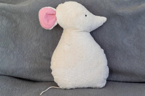 Schlaf - und Kuschelkissen Silja die Maus - Bio Plüsch