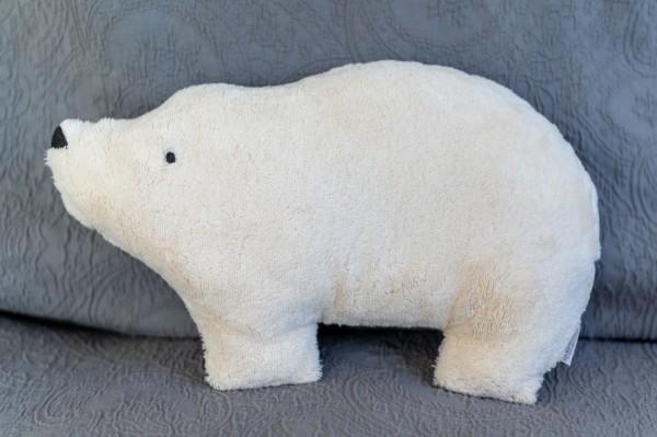 Schlaf - und Kuschelkissen Bjarne der Eisbär - Bio Plüsch