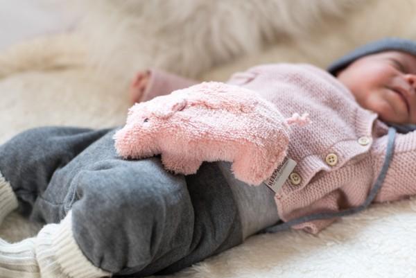 Babykissen Jule das Schweinchen mit Kirschkernfüllung
