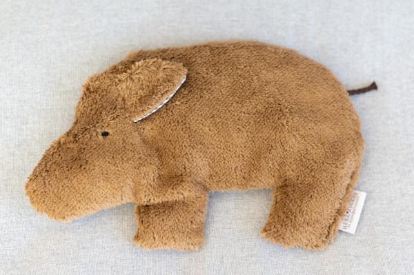 Kinderkissen Trappi das Wildschwein mit Traubenkernfüllung