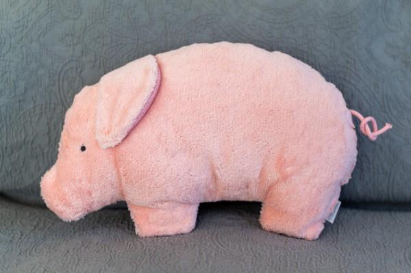 Bio Plüsch Schlaf - und Kuschelkissen Jule das Schweinchen
