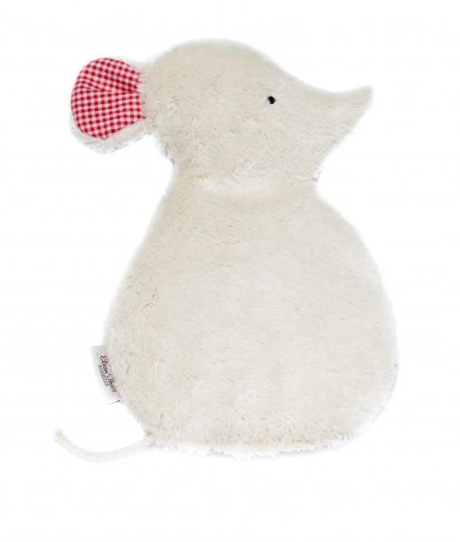 Kinderkissen Maus Lina weiß
