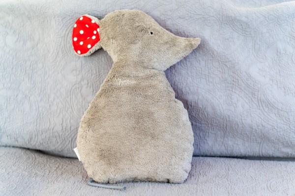 Schlaf - und Kuschelkissen Lina die Maus - Bio Plüsch