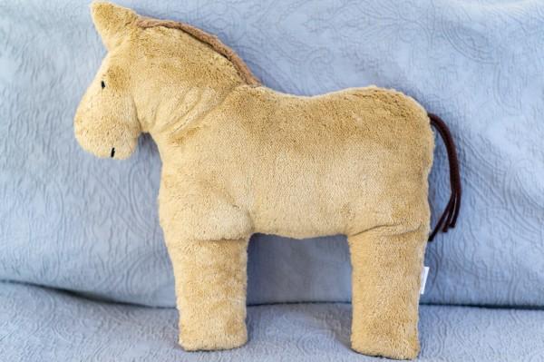 Schlaf - und Kuschelkissen Holly das Pferd - Bio Plüsch