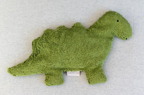 Kinderkissen Till der Dino mit Traubenkernfüllung - Bio Plüsch